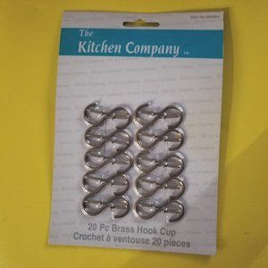 The Kitchen Company 20 Brass Hook Cups package
